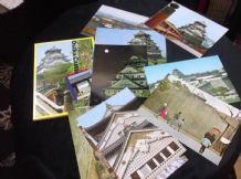 COLLECTION 12 GLOSS COLOUR POSTCARDS IN WALLET ALL NEW OSAKA CASTLE